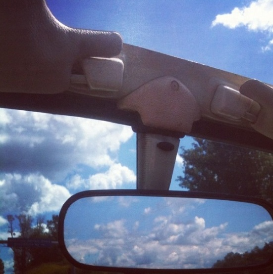 Clouds ahead of me, behind me and above me