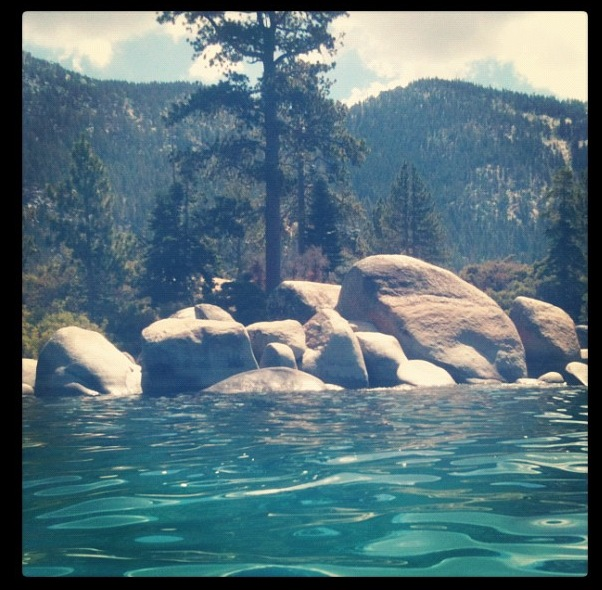 View From my Kayak in Lake Tahoe