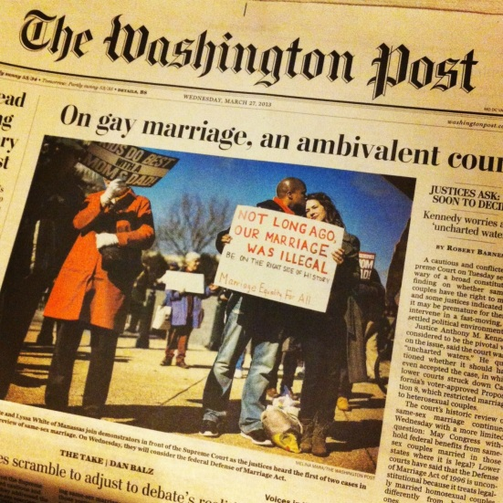 not too long ago our marriage was illegal Washington post