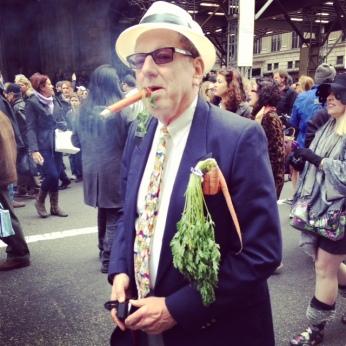 "A guy smoking a ""carrot"" cigar"