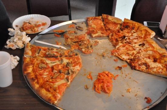 No more pizza, please. Ever.