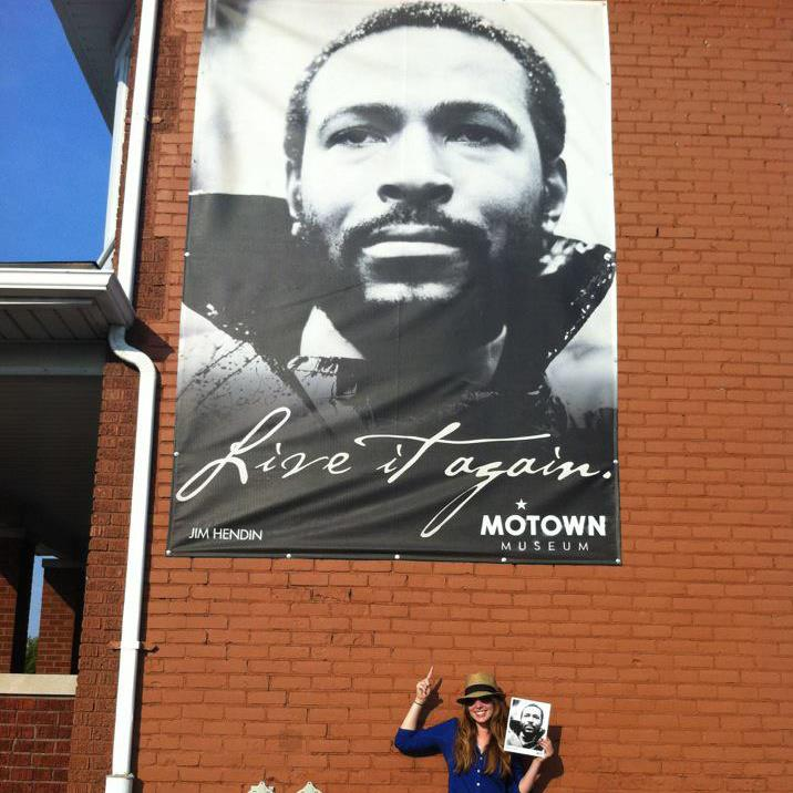 Me and Marvin at Detroit's Motown Museum