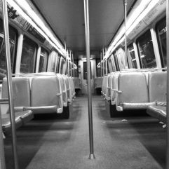 All alone on the metro