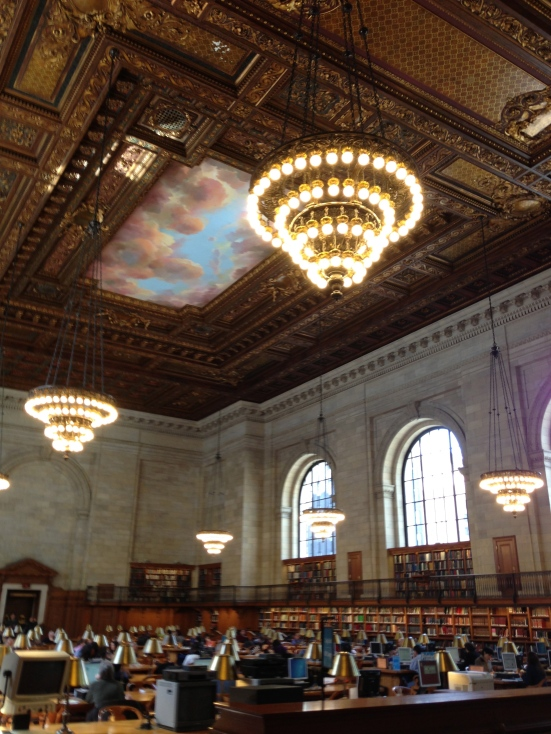 We went to the NYC public library