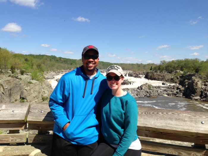 We hiked Great Falls on an unseasonably cold day in May