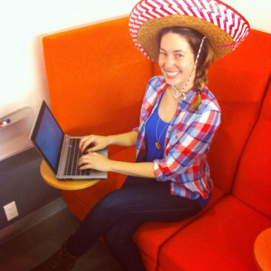 It's a makeup-free fiesta at work!