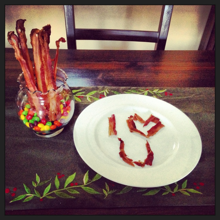Lyssa and Kris spent Valentine's Day apart, but managed to insert some bacon romance.