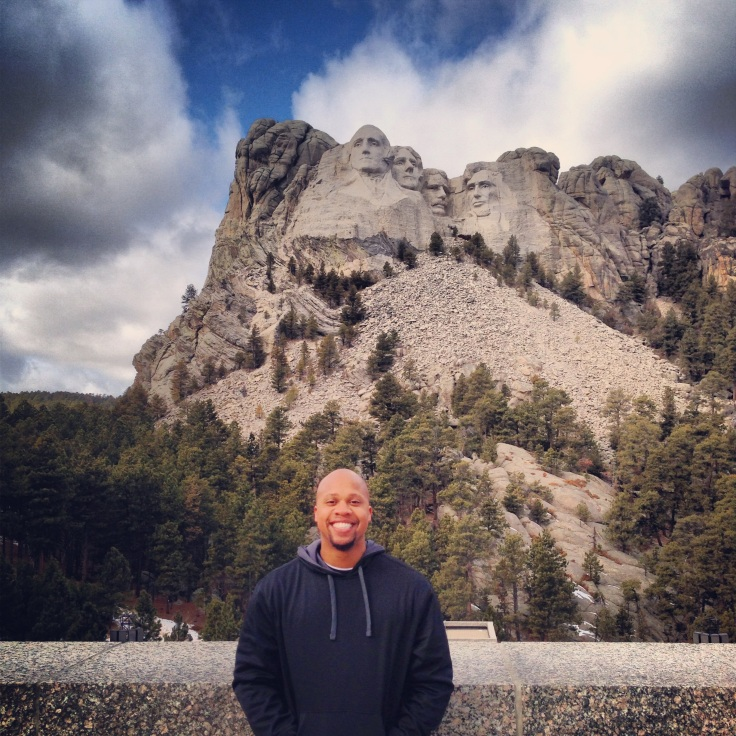 Kris traveled to Mount Rushmore