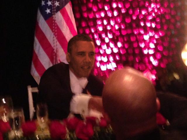 Kris met President Obama
