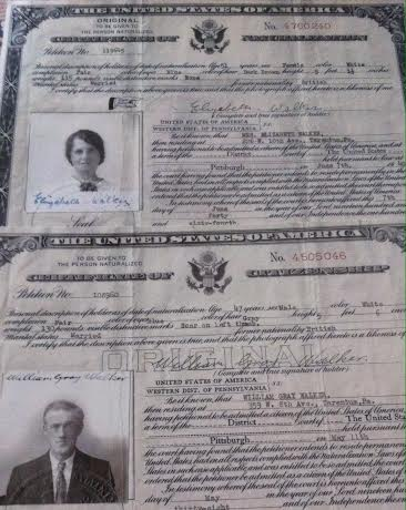 From Newcastle to America. The citizenship papers of my paternal great grandparents.