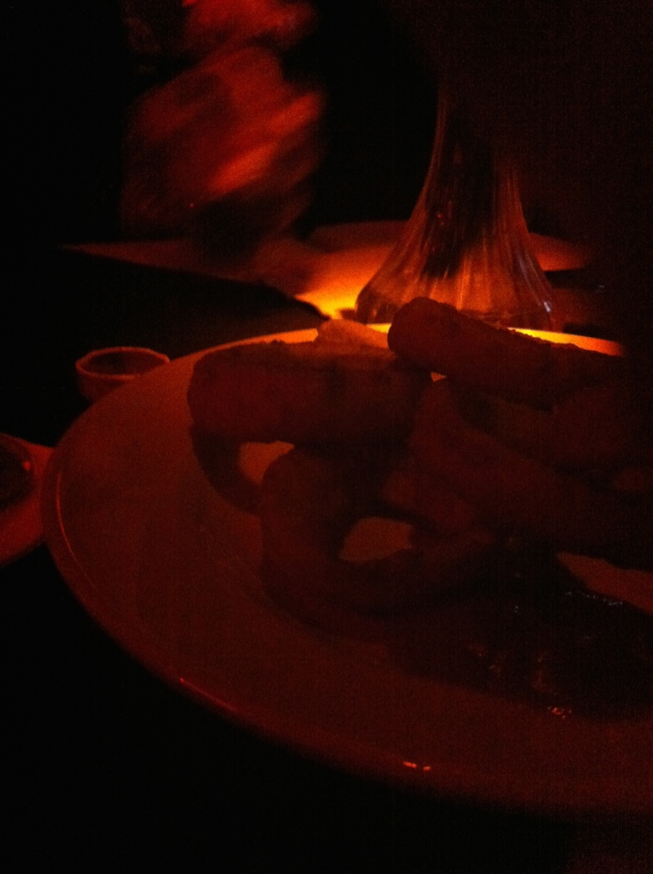 The only picture I took in the club... of my onion rings.