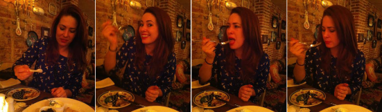 Tasting caviar for the first time
