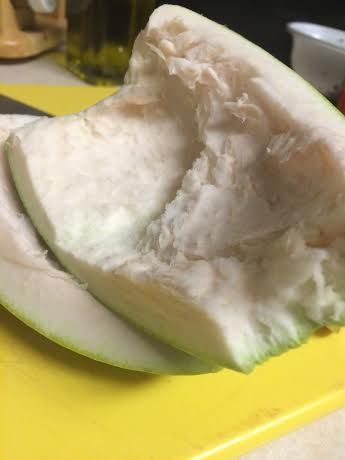 Squishy pomelo peel