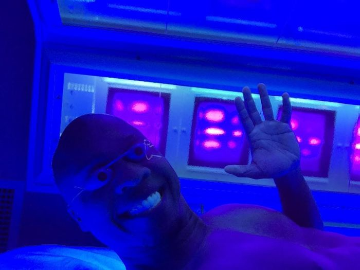 kris goes tanning at eurobronze