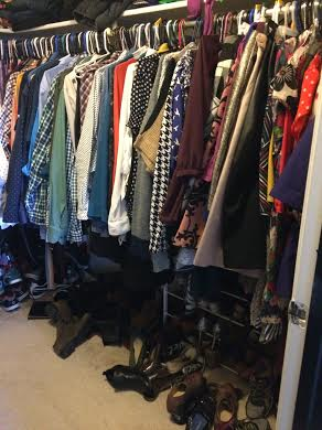 Most of my every day clothes. Does not include jackets, shoes, or hats.