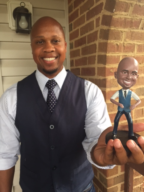 Kris gets a custom bobblehead with bigbobble.com