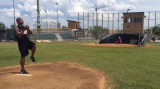 Throw a Baseball From the Pitcher's Mound