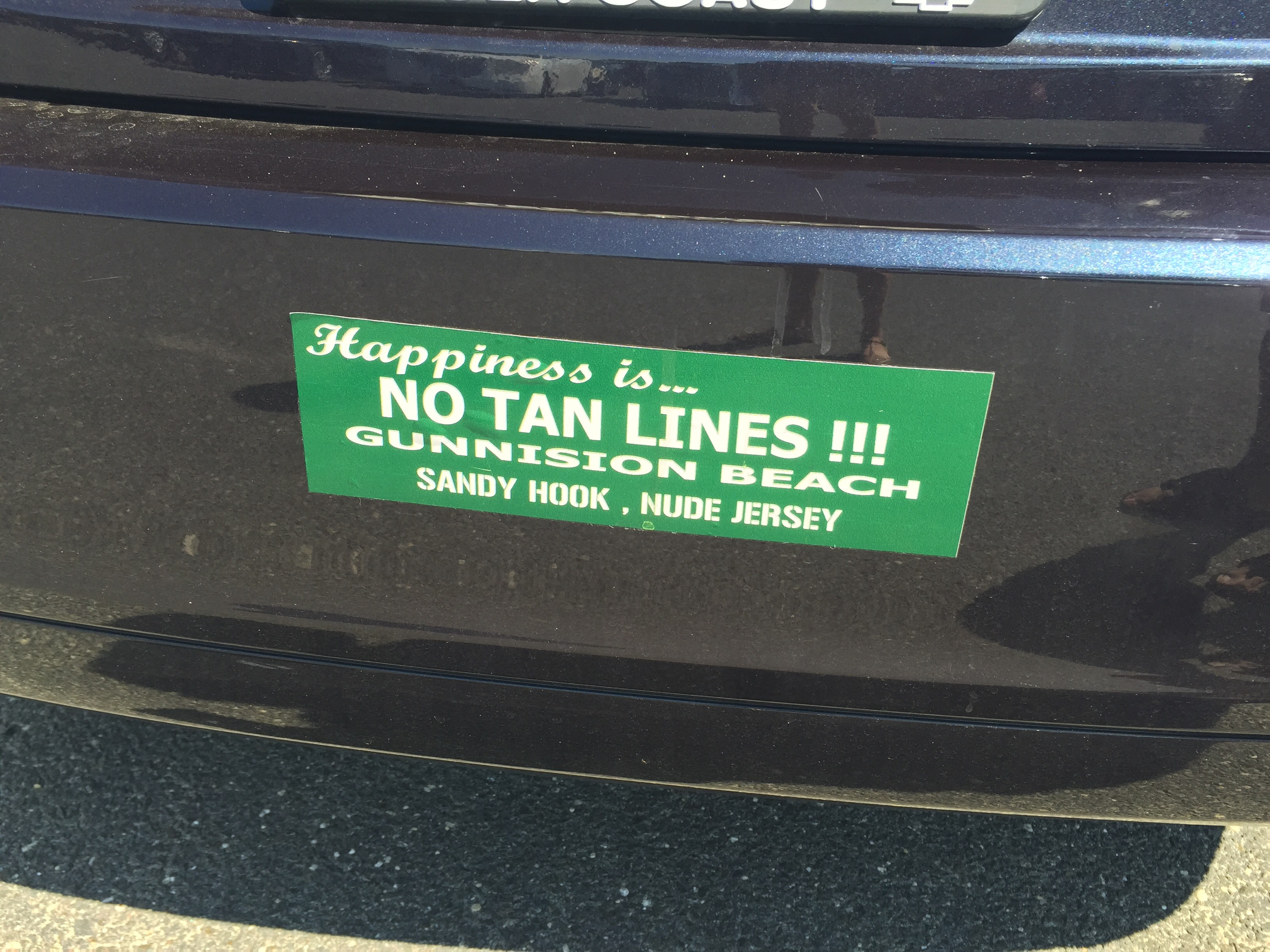 gunnison beach bumper sticker