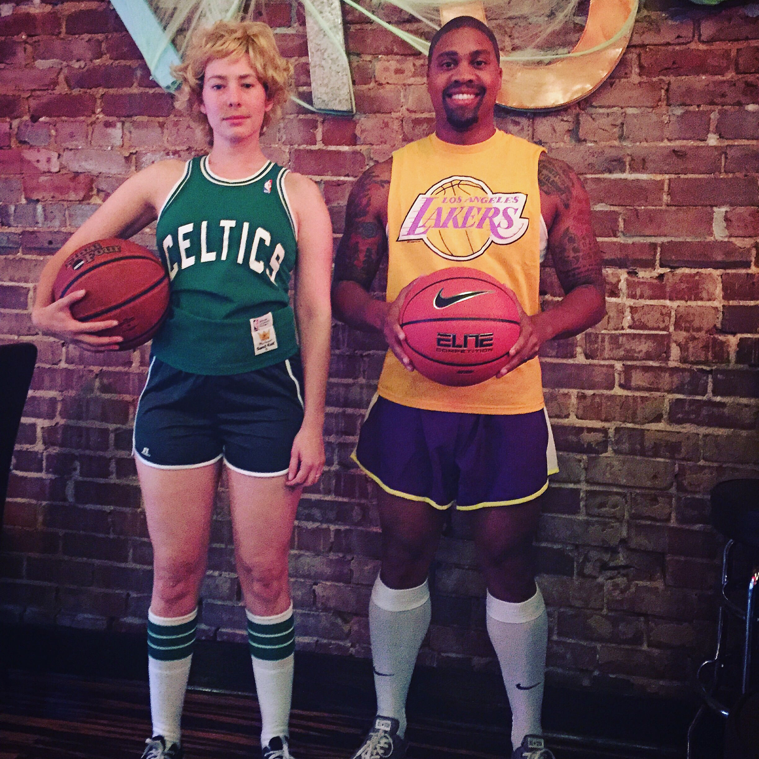 Larry Bird and Magic Johnson halloween costume